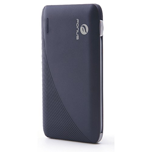 10000mAh Ultra スリム USB Power Bank Portable バッテリー Charger ビルトイン ケーブル for AT&T Kyocera DuraForce XD - AT&T LG Escape 2 - AT&T LG G フレックス - AT&T LG G フレックス 2 「汎用品」(海外取寄せ品)