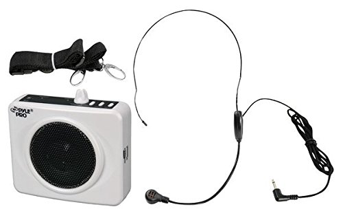 PYLE-プロ PWMA60UW 50 ワット Portable USB ウエスト-バンド PA System with ヘッドセット Microphone, Rechargeable Batteries (Color White) 「汎用品」(海外取寄せ品)
