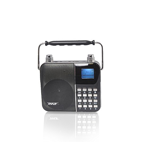 Pyle Portable ウエスト-バンド Portable PA System with ヘッドセット Microphone, Rechargeable Batteries karaoke マシーン USB SD Card リーダー & Recorder Lyrics ディスプレイ Ability to Sing Along (Color Black) (PWMA68) 「汎用品」(海外取寄せ品)