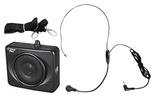 PYLE-プロ PWMA60UB 50 ワット Portable USB ウエスト-バンド PA System with ヘッドセット Microphone, Rechargeable Batteries (Color Black) 「汎用品」(海外取寄せ品)