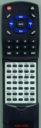PANASONIC リプレイスメント Remote Control for SAPM19, SCPM28, SAPM193, EUR7711150, EUR7711030 「汎用品」(海外取寄せ品)