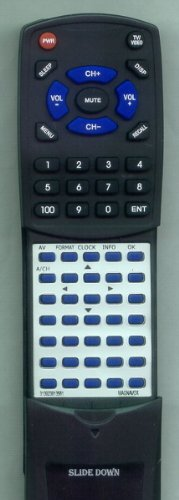MAGNAVOX リプレイスメント Remote Control for 50MF231D37, 313923813561, 52MF437S, 42MF237S37 「汎用品」(海外取寄せ品)