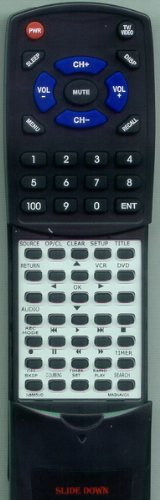 MAGNAVOX リプレイスメント Remote Control for ZV450MW8, NB555, ZV450MW8A, NB555UD 「汎用品」(海外取寄せ品)