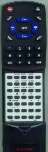 Remote CDPCX210, ソニー リプレイスメント 「汎用品」(海外取寄せ品) RMDX200 CDPCX200, for Control CDPCX225, 147380011,