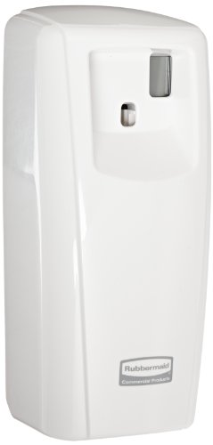 Rubbermaid Commercial FG401218 Microburst 9000 Aerosol Odor Control LCD Dispenser, ホワイト, 3.56