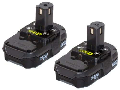 Ryobi (2 Pack) P102 One+ Lithium イオン 18 Volt Compact Batteries (Bulk Packaged) 「汎用品」(海外取寄せ品)