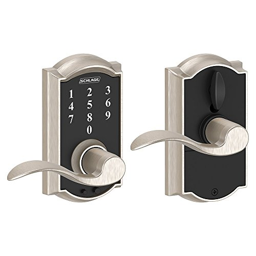 Schlage タッチ Camelot ロック with アクセント Lever (Satin Nickel) FE695 CAM 619 ACC 「汎用品」(海外取寄せ品)