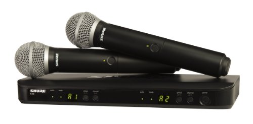Shure BLX288/PG58 Wireless Vocal コンボ with PG58 ハンドヘルド Microphones, J10 「汎用品」(海外取寄せ品)