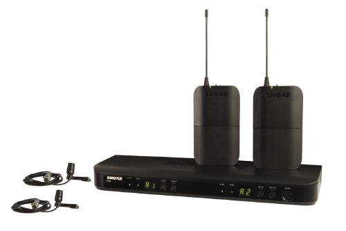 Shure BLX188/CVL デュアル Channel Lavalier Wireless System with 2 CVL Lavalier Microphones, J10 「汎用品」(海外取寄せ品)