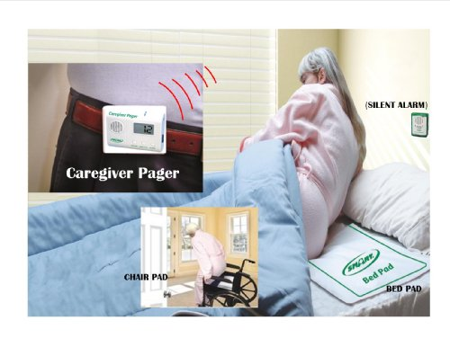 Bed & Chair アラーム with Wireless Pager - (No アラーム Near Patient) - Plus Kerr Absorbent プロテクター Pads 「汎用品」(海外取寄せ品)