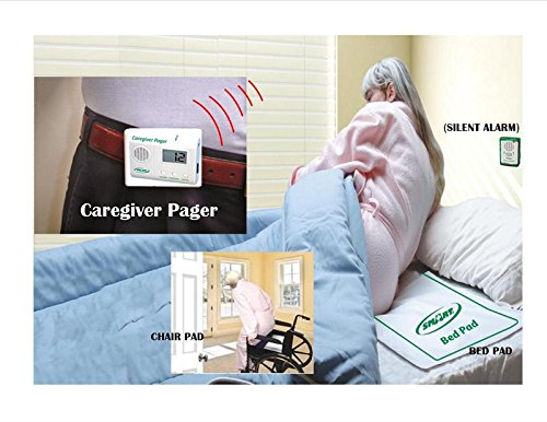 Bed & Chair アラーム System with Wireless Pager, アイデア for ロー Weight Patient - 1 モニター 「汎用品」(海外取寄せ品)