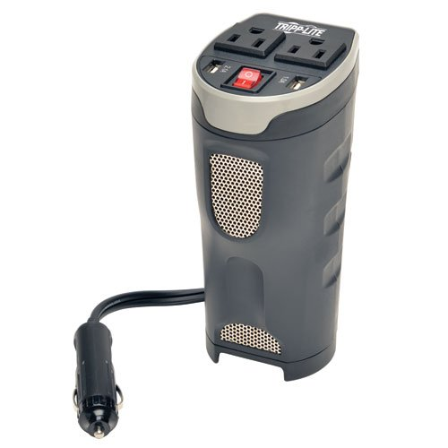 Tripp ライト 200W Car Power Inverter with 2 Outlets & 2 USB Charging Ports, カップ Holder デザイン, オート Inverter (PV200CUSB) 「汎用品」(海外取寄せ品)