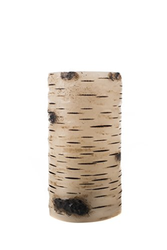 The アメイジング Flameless Candle Unscented 10mm LED Wax Pillar, 3 by 6-Inch, Birch Bark 「汎用品」(海外取寄せ品)
