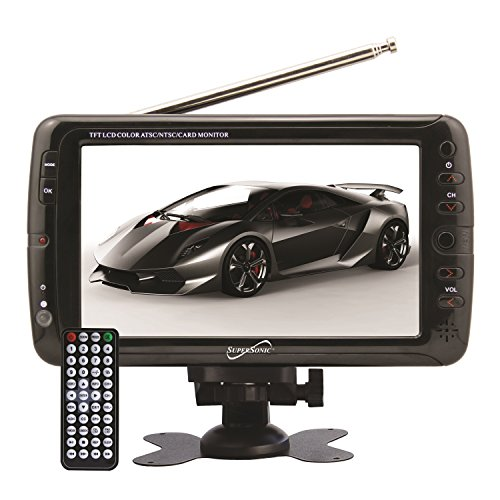 SuperSonic Portable ワイドスクリーン LCD ディスプレイ with デジタル TV Tuner, USB/SD Inputs and AC/DC Compatible for RVs, 7-インチ 「汎用品」(海外取寄せ品)
