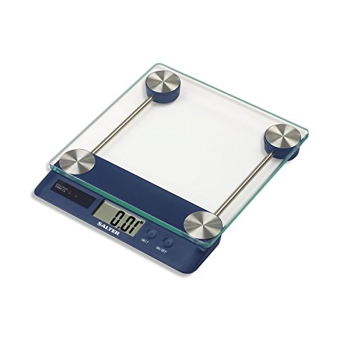 Salter Touchless Tare デジタル Kitchen Scale (Blue) 「汎用品」(海外取寄せ品)