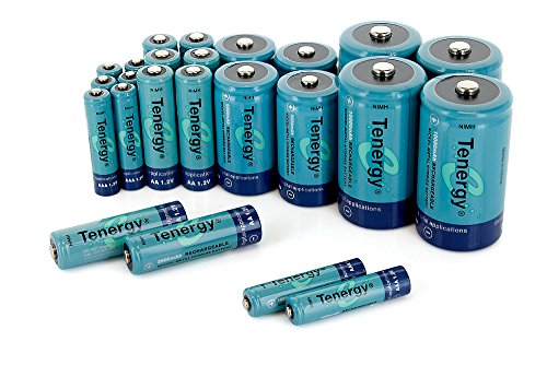 Tenergy ハイ Capacity NiMH Rechargeable コンボ with 24 batteries 8AA/8AAA/4C/4D --- SALE! 「汎用品」(海外取寄せ品)