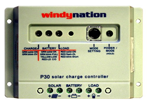 WindyNation P30 30A ソーラー Panel レギュレーター Charge Controller 12V 24V 390W 780W 「汎用品」(海外取寄せ品)