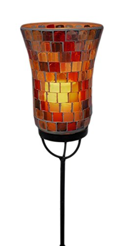 Mosaic ガラス Flameless Candle ガーデン Light Stake 48 in. 「汎用品」(海外取寄せ品)
