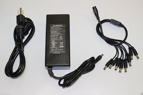 Wennow UL Security Cameras 8 Port 12V 8A DC Power Adapter for Q-シー Zmodo Swann Lorex 「汎用品」(海外取寄せ品)