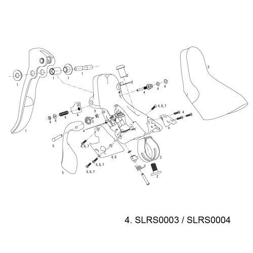 SRAM 2008-11 レッド Left DoubleTap Shifter Body Assembly (海外取寄せ品)