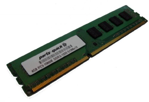 4GB RAM Memory Upgrade for Tyan Computers Motherboard S8005 PC3-10600E DDR3 1333MHz 2Rx8 ECC Unbuffered UB DIMM Module PARTS-QUICK Brand