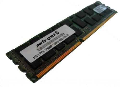 16GB DDR3 メモリ memory Upgrade for Supermicro X9DRG-HF+ Motherboard PC3-12800 ECC レジスター DIMM 240 ピン 1600MHz RAM (PARTS-クイック BRAND) (海外取寄せ品)