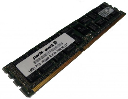 16GB メモリ memory Upgrade for Supermicro BHQGE Motherboard DDR3 PC3-14900 1866 MHz ECC レジスター DIMM RAM (PARTS-クイック BRAND) (海外取寄せ品)