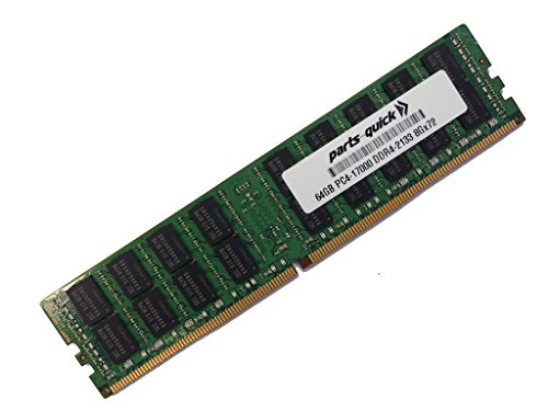 64GB メモリ memory for Supermicro SuperServer 5028R-WR (Super X10SRW-F) DDR4 2133MHz クワッド Rank X4 Load Reduced DIMM (PARTS-クイック BRAND) (海外取寄せ品)