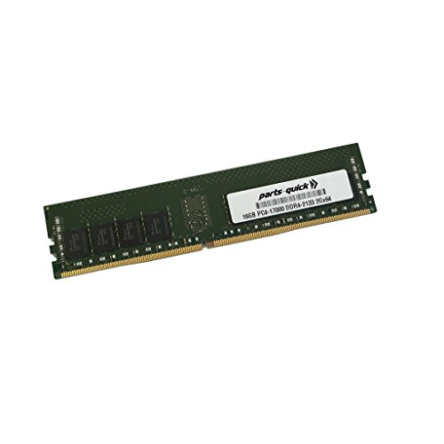 16GB メモリ memory for HP ProDesk 480 G3 Microtower DDR4 2133MHz DIMM RAM (PARTS-クイック BRAND) (海外取寄せ品)