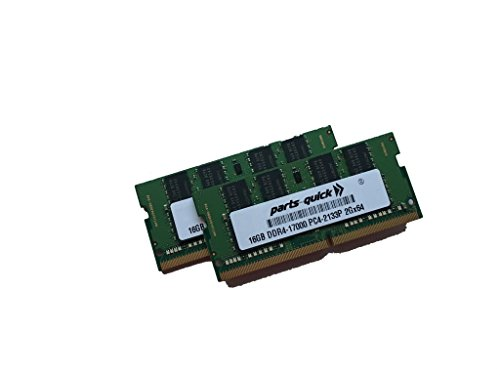 32GB (2X16GB) キット メモリ memory for Intel Next Unit of Computing (NUC) NUC6I3SYK DDR4 2133MHz SODIMM RAM (PARTS-クイック BRAND) (海外取寄せ品)
