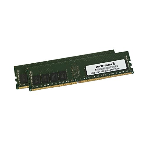 32GB (2X16GB) キット メモリ memory for Fujitsu PRIMERGY TX1330 M2 DDR4 2133MHz DIMM RAM (PARTS-クイック BRAND) (海外取寄せ品)