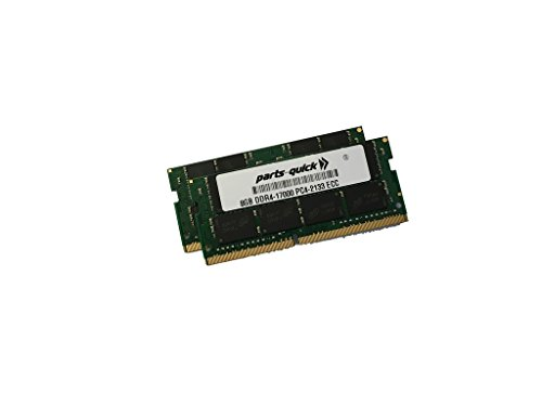 16GB (2X8GB) キット メモリ memory for HP ZBook 17 G3 Mobile Workstation DDR4 2133MHz ECC SODIMM (PARTS-クイック BRAND) (海外取寄せ品)