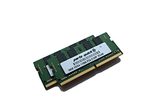 32GB (2X 16GB) キット メモリ memory for HP ProBook 440 G3 (DDR4) 2133MHz SODIMM RAM (PARTS-クイック BRAND) (海外取寄せ品)