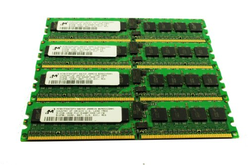 2GB PC2-5300P メモリ memory キット 4x 512MB ECC DDR2 667 FB Server RAM Micron MT9HTF6472PY-667D2 (海外取寄せ品)