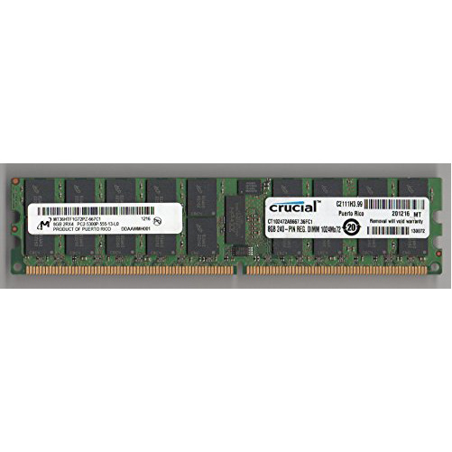 MICRON MT36HTF1G72PZ-667C1 PC2-5300P DDR2 667 8GB 2RX4 ECC REG 2RX4 (FOR SERVER ONLY) (海外取寄せ品)