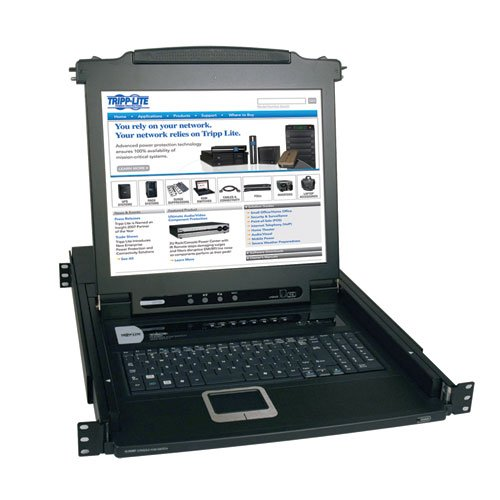 TRIPP ライト 8-Port Rackmount Console KVM Switch スチール with 17-インチ LCD スクリーン, Touchpad and Keyboard 1URM (B020-008-17) (海外取寄せ品)
