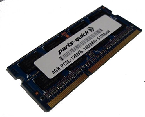 4GB メモリ memory for エイサー Acer Aspire E5-731-P30W DDR3L PC3L-12800 SODIMM RAM (PARTS-クイック BRAND) (海外取寄せ品)
