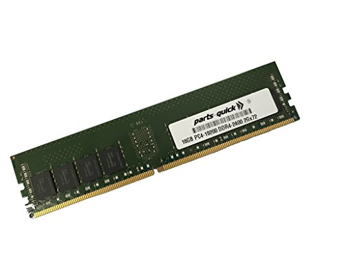16GB メモリ memory for Supermicro SuperServer 6018TR-T (Super X10DRT-L) DDR4 PC4-2400 レジスター DIMM (PARTS-クイック BRAND) (海外取寄せ品)