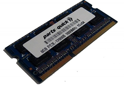 8GB メモリ memory for Toshiba Qosmio X70-A-12W DDR3 PC3L-12800 1600MHz SODIMM RAM (PARTS-クイック BRAND) (海外取寄せ品)