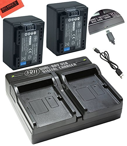 BM プレミアム 2 BP-718 Batteries and デュアル Charger for Canon Vixia HFR80 HFR82 HFR800, HFR70, HFR72, HFR700, HFR32, HFR300, HFR40, HFR42, HFR400, HFR50, HFR52, HFR500, HFR60, HFR62, HFR600 Camcorder 「汎用品」(海外取寄せ品)