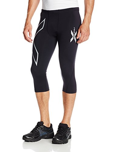 2XU メンズ Thermal Compression 3/4 タイツ (Black/Black, XX-Large) (海外取寄せ品)
