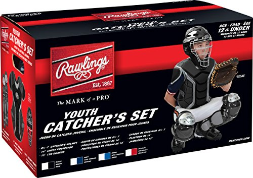 Rawlings Sporting グッド Renegade Series Catcher セット (Below 12), Scarlet/シルバー (海外取寄せ品)