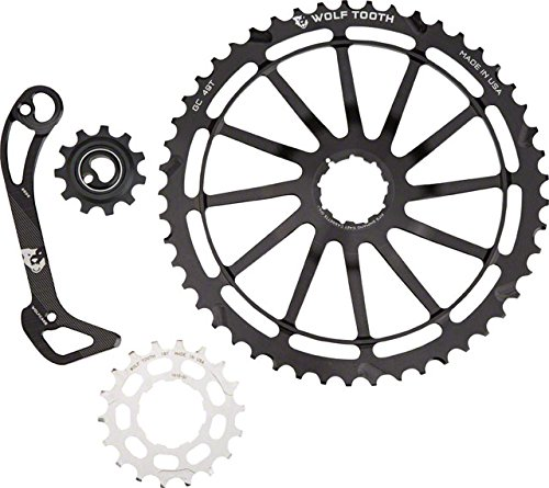 Wolf Tooth コンポーネント WolfCage コンボ パック: インクルーズ 49T Cog, 18T Cog, SGS Adaptor Cage for XT8000, ブラック (海外取寄せ品)