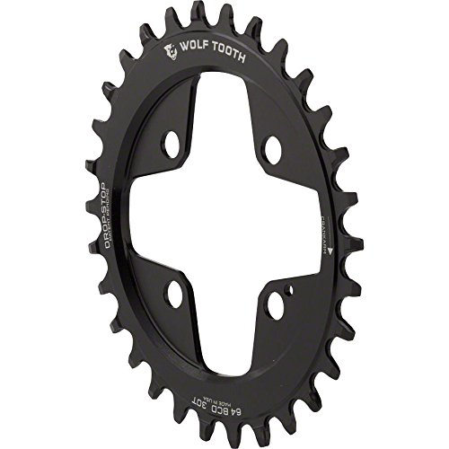 Wolf Tooth コンポーネント ドロップ-ストップ Elliptical Chainring: 30T x 64 BCD (海外取寄せ品)