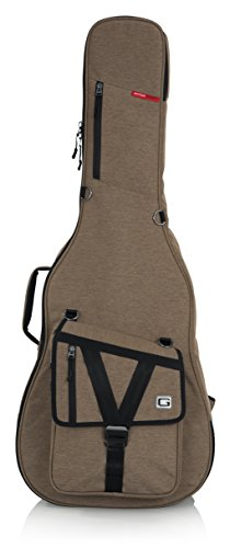 Gator ケース GT-ACOUSTIC-タン Transit Series Acoustic Guitar Gig Bag with Exterior, タン (海外取寄せ品)