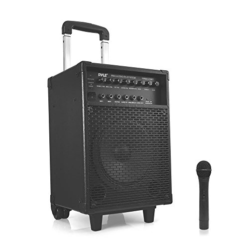 Pyle PWMA230BT - ブルートゥース Wireless & Portable PA Karaoke スピーカー System, ビルトイン Rechargeable バッテリー, Wireless Microphone (海外取寄せ品)
