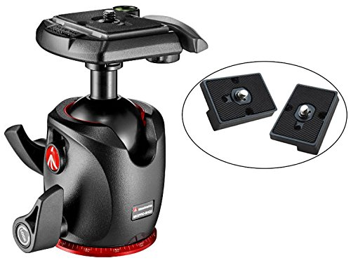 Manfrotto XPRO Magnesium Ball Head with Two Ivation リプレイスメント クイック リリース プレート for the RC2 Rapid Connect Adapter (海外取寄せ品)