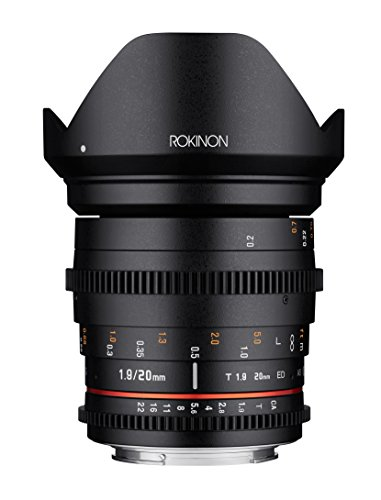 Rokinon 20mm T1.9 Cine DS AS ED UMC ワイド Angle Cine レンズ for Canon EF (海外取寄せ品)