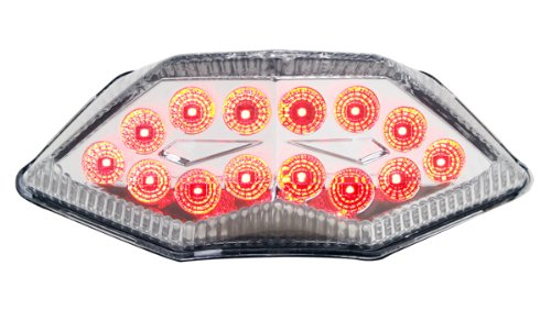 2013-2017 Kawasaki 忍者 300 Integrated Sequential LED Tail ライト Clear レンズ (海外取寄せ品)