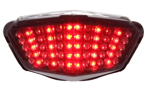 2008-2012 Kawasaki 忍者 250R Integrated Sequential LED Tail ライト スモーク レンズ (海外取寄せ品)